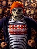 Bachata di spavento dei frenckiss del pirata di Halloween immagini stock libere da diritti