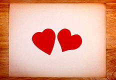 Bacheca con forma del cuore Fotografie Stock