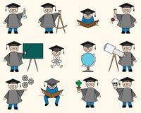 Bachelor or Education Set Stock Images