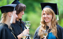Bachelor graduates celebrate Stock Image