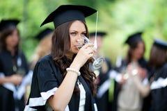 Bachelor graduates celebrate Stock Photography