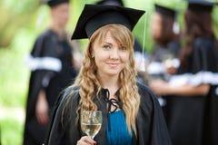 Bachelor graduates celebrate Stock Images