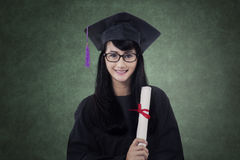 Bachelor holds certificate in the class Stock Photography