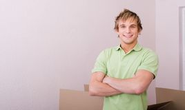 Bachelor in new home Royalty Free Stock Photography