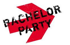Bachelor Party rubber stamp Royalty Free Stock Images