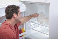 Bachelor's fridge Royalty Free Stock Photo