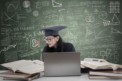 Bachelor studying in class 1 Royalty Free Stock Photos