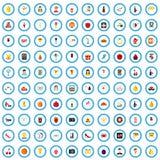 100 bachelorette icons set, flat style. 100 bachelorette icons set in flat style for any design vector illustration stock illustration