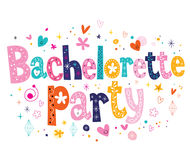 Bachelorette party. Decorative lettering design Stock Image