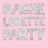 Bachelorette Party. Bachelorette hens party pink vector design stock illustration