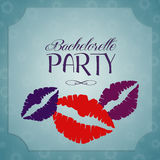 Bachelorette party invitation Royalty Free Stock Photography