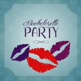 Bachelorette party invitation. Illustration of Bachelorette party invitation with kisses vector illustration