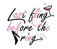 Bachelorette Party quote design Stock Photos