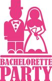 Bachelorette party vector vector. Bachelorette party simple vector icon Royalty Free Stock Image