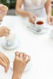 Bachelorette przyjęcia obrączki ślubnej zaręczynowy palec Zdjęcie Royalty Free