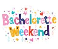Bachelorette Weekend. Decorative type design Stock Photos