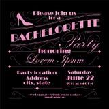 Bachelorette zaproszenia projekt Obrazy Stock