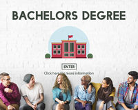 Bachelors Degree Admission School Education Concept Royalty Free Stock Photos