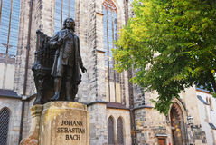 bachgermany johann leipzig minnesmärke sebastian Royaltyfria Bilder