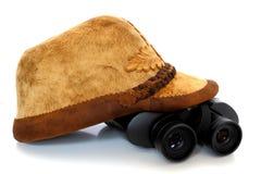 bachground biel kapeluszowy łowiecki Zdjęcie Stock