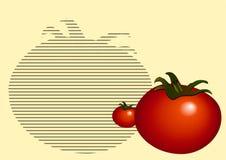 Bachground_tomato_yellow Foto de archivo libre de regalías
