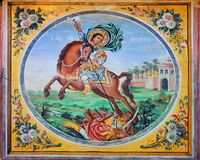Bachkovo monastery. Detail of a wall painting Stock Photography