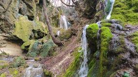 Bachkovo waterfalls cascade in Rhodopes Mountain, Bulgaria