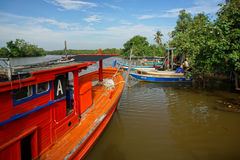 Bachok 12威严2016年:小船看法在Bachok吉兰丹马来西亚 免版税库存图片