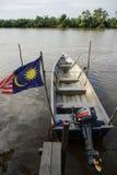 Bachok 16 Augusti 2016: sikt av fartyg i Bachok Kelantan Malaysia Royaltyfria Foton