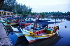 Bachok, mei 2016 Kelantans 12: Ansicht des Fischerdorfes in Malaysia Stockbilder