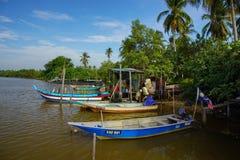 Bachok, am 12. September 2016: Boote auf See in Malaysia Lizenzfreie Stockbilder