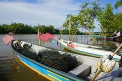Bachok, am 12. September 2016: Boote auf See in Malaysia Lizenzfreies Stockfoto