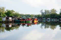 Bachok, am 12. September 2016: Fischerboote in Malaysia Stockbilder
