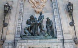 Bachs Garriga广场在巴塞罗那 库存照片