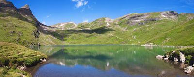 Bachsee Panorama stock photo