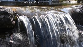 Bachwasserstrom mit kleinem Risse stock footage