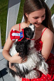 Baci del cane Fotografie Stock
