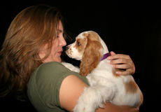 Baci del cucciolo Immagini Stock Libere da Diritti