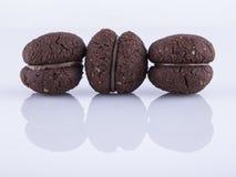 Baci di dama al cacao. Baci di dama, typical Italian biscuits Stock Image