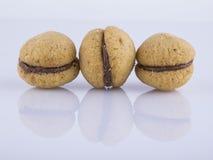 Baci di dama alla nocciola. Baci di dama, typical Italian biscuits Stock Images