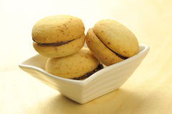 Baci di dama, traditional italian cookie Royalty Free Stock Images