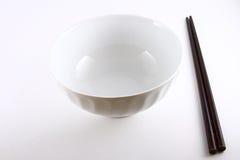 Bacia & Chopsticks chineses Fotos de Stock