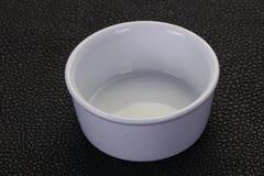 bacia branca da porcelana imagem de stock