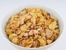 Bacia branca de cereal imagens de stock