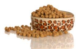 Bacia cheia de alimento de cão fotografia de stock
