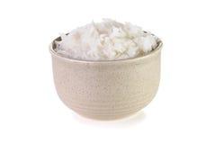 Bacia com arroz fervido imagens de stock royalty free