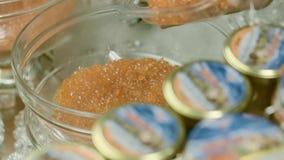 Bacia com caviar vermelho filme