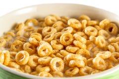 Bacia com flocos de milho e leite Imagem de Stock Royalty Free