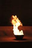 Bacia com incêndio Imagem de Stock Royalty Free