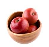 Bacia com maçãs de fuji Imagens de Stock
